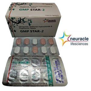 Pioglitazone 15 mg + Glimepiride 2 mg + metformin 500 mg bilayered tab in Sustain Release tab