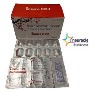 Ferrous Ascorbate 100 mg + Folic Acid Tablet 1.5 mg & Zinc 7.5 mg tab