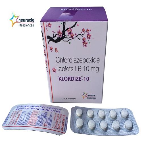 Chlordiazepoxide 10 mg tab