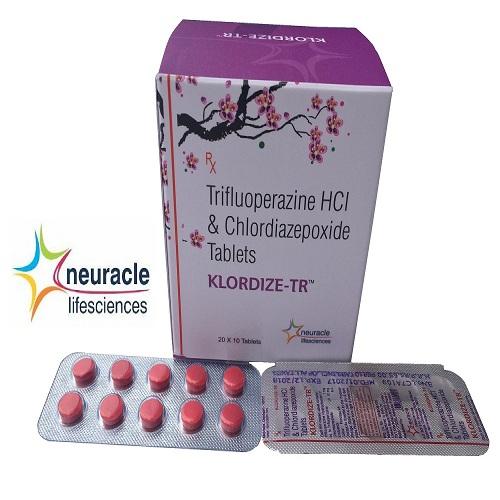 Trifluoperazine 1 mg + Chlordiazepoxide 10 mg tab