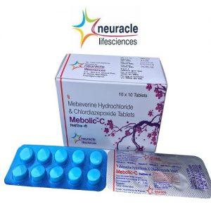 Mebeverine 135 mg + Chlordiazepoxide 5 mg tab