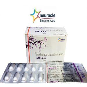Aceclofenac 100 mg + Paracetamol 325 mg tab