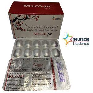 Aceclofenac 100 mg + Paracetamol 325 mg + Serratiopeptidase 15 mg tab