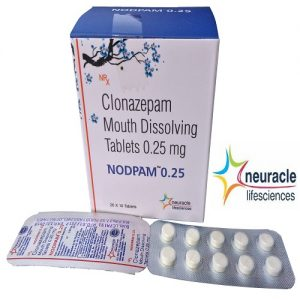 Clonazepam 0.25 mg (Mouth Disolving) tab
