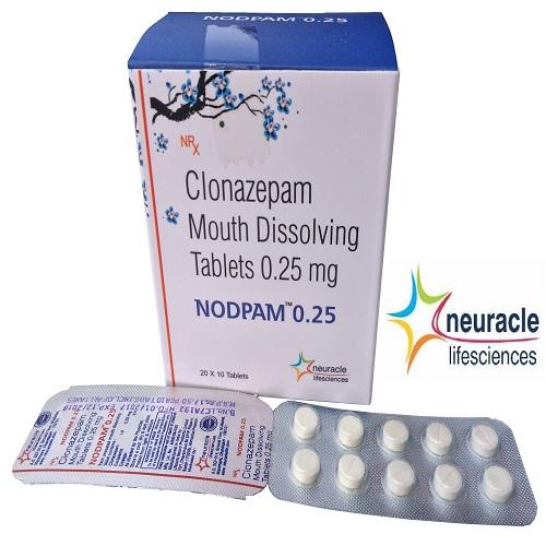 Clonazepam 0.25 mg (Mouth Disolving) tab