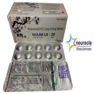 Propranolol 20 mg Long Acting tab