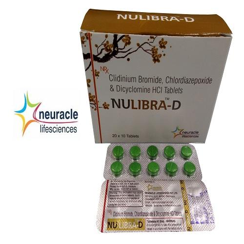 Chlordiazepoxide 5 mg + Clidinium Bromide 2.5 mg + Dyclomine Hcl 10 mg tab