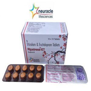 Etizolam 0.5 mg + Escitalopram 10 mg tab