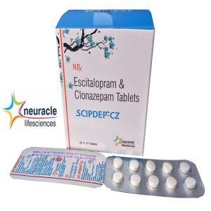 Escitalopram 10 mg + Clonazepam 0.5 mg tab