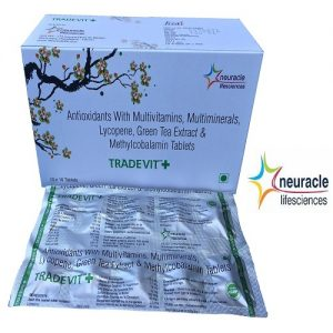 Multivitamin Tablet ( Antioxident with Multivitamins, Multiminerals, Lycopene, Green Tea Extract & Methylocobalmin tab