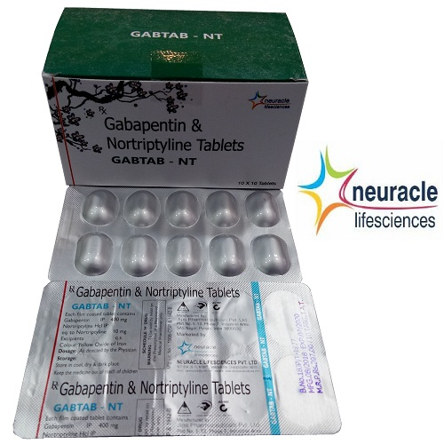 Gabapentine 400 mg + Nortriptyline 10 mg tab