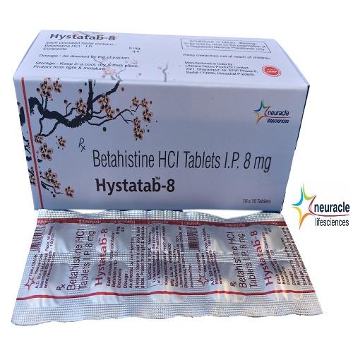 Betahistine 8 mg tab