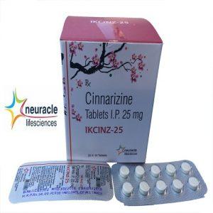 Cinnarizine 25 mg tab