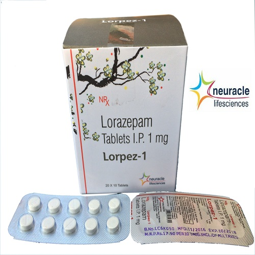 Lorazepam Tablets Manufacturer and Supplier in India